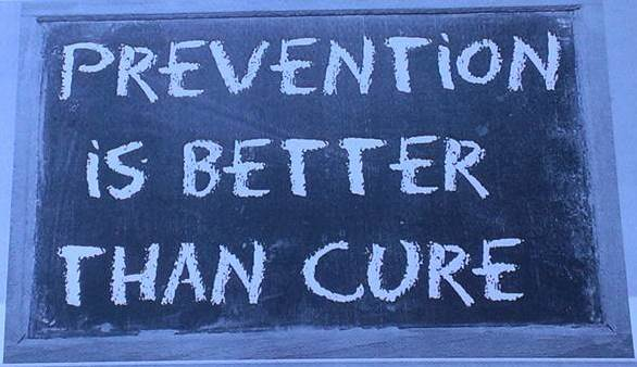 Banner: Prevention is Better than Cure